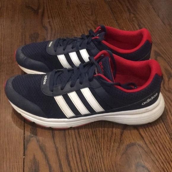 ADIDAS Mens Neo Cloudfoam VS City Shoes Navy 10